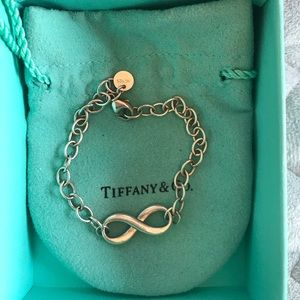 Tiffany and Co infinity silver bracelet